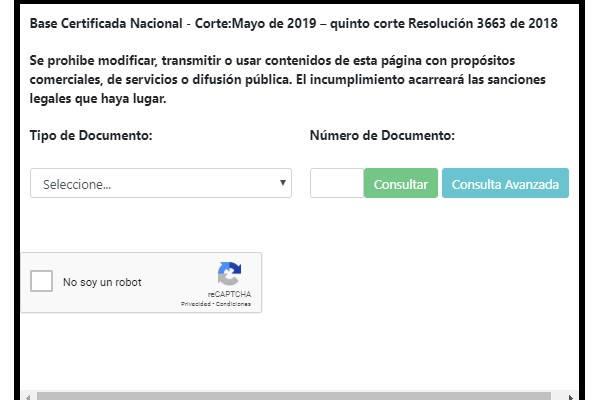 pagina de consultas certificado sisben
