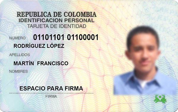 tarjeta de identificacion