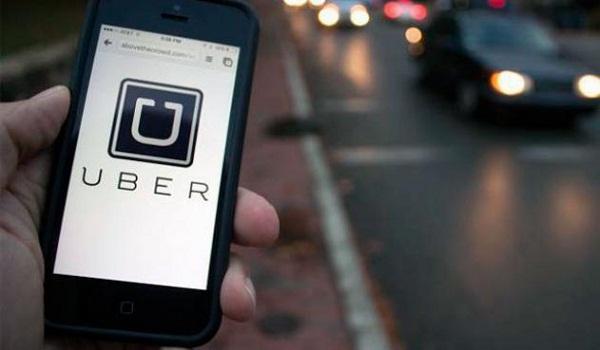 uber en el telefono