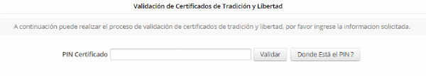 validar certificado de tradición y libertad