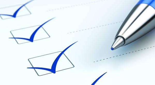 Certificado de reconocimiento checklist