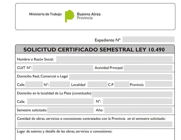 Consulta Certificado Ley 10490