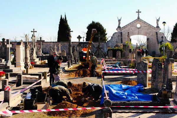 preceso de exhumación