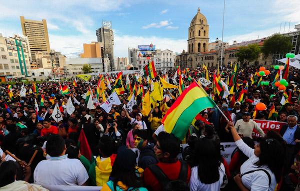 Manifestación de Bolivia