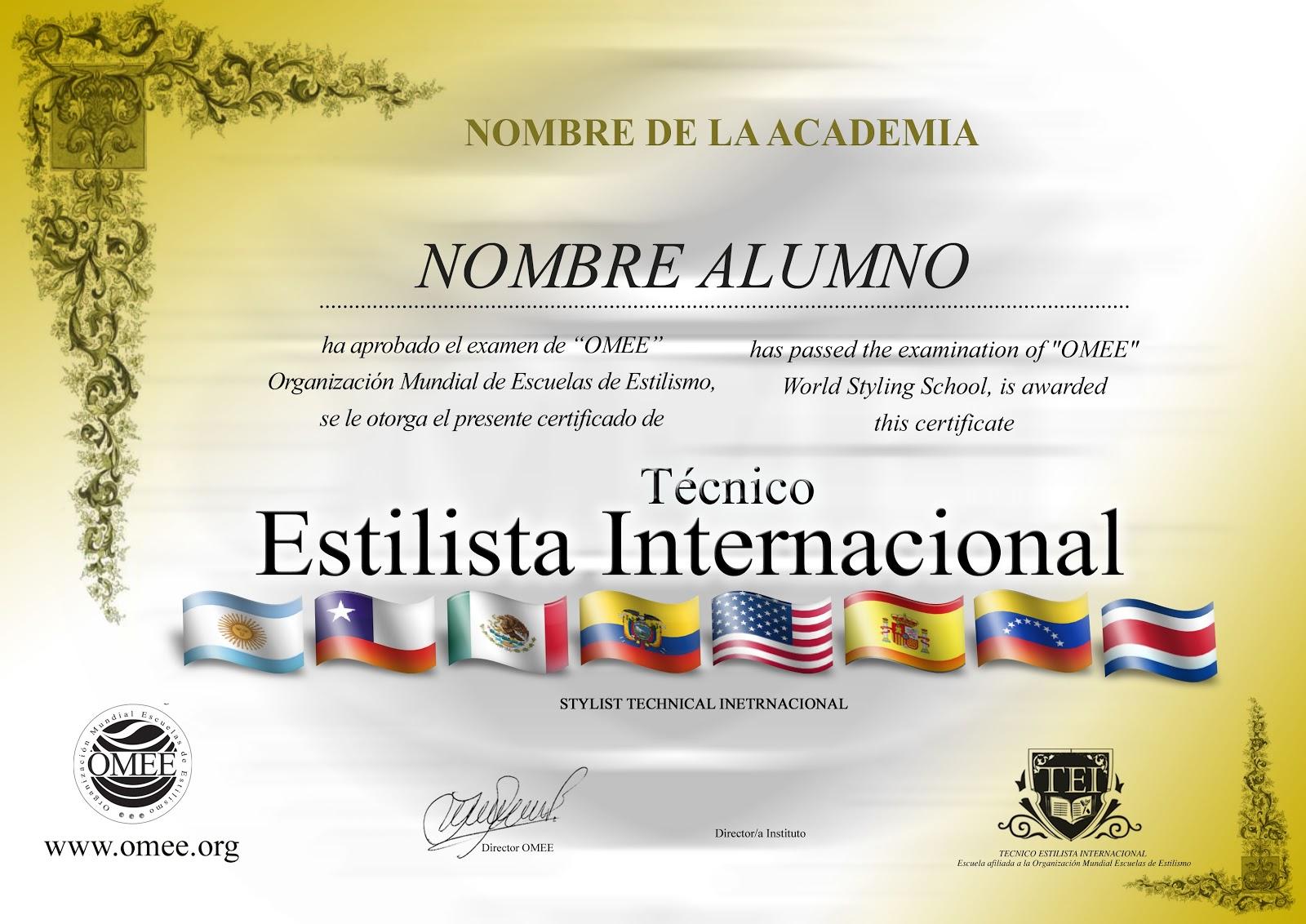 Certificado de Peluquería
