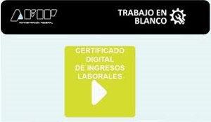 certificado digital de ingreso laborables