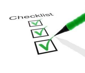 checklist certificado ACAA