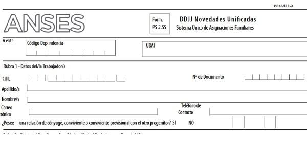 formulario nacimiento