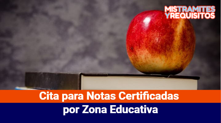 Cita para Notas Certificadas por Zona Educativa