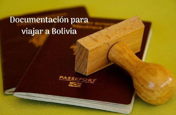 doumentos para viajar a bolivia