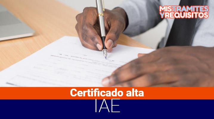 Conoce como obtener un Certificado de Alta IAE – Impuestos de Actividades Económicas