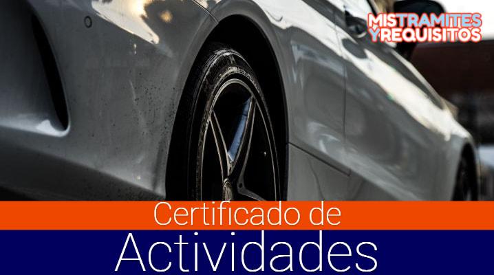 Conoce como obtener el Certificado de Actividades