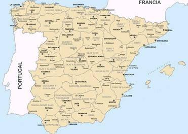 Mapa de España institutos de mediadores