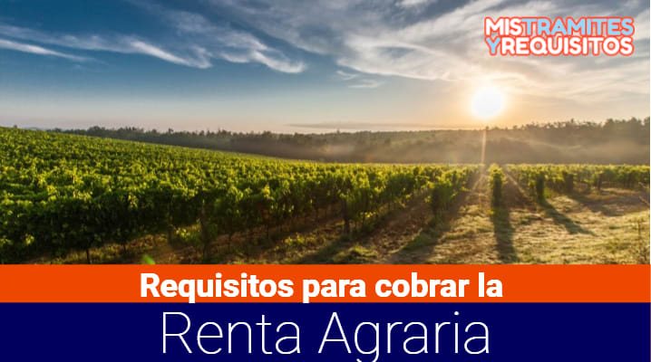 Requisitos para cobrar la Renta Agraria