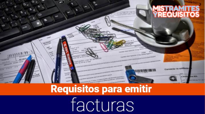 Requisitos para emitir facturas