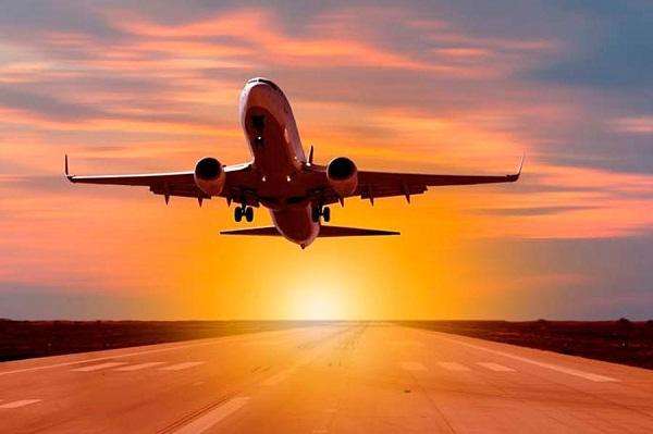 avion despegando