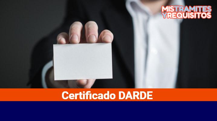 Certificado DARDE