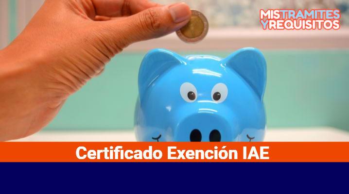 Certificado Exención IAE