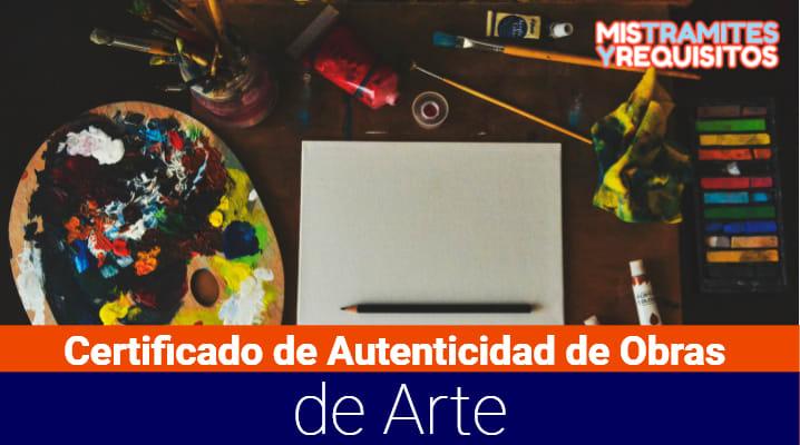 Certificado de Autenticidad de Obras de Arte
