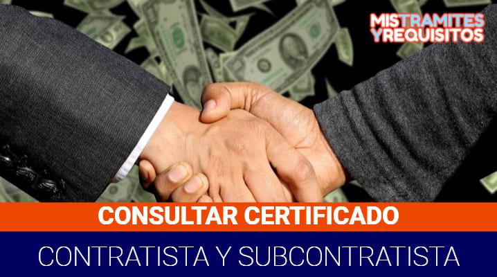 Certificado de Contratistas y Subcontratistas