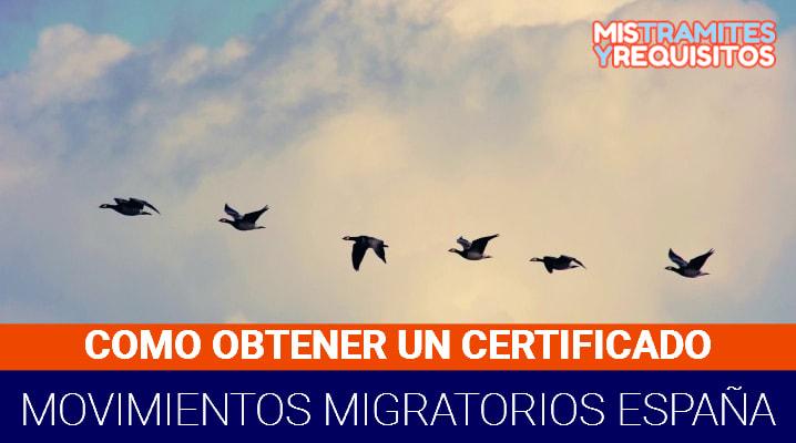 Descubre como obtener un Certificado de Movimientos Migratorios España