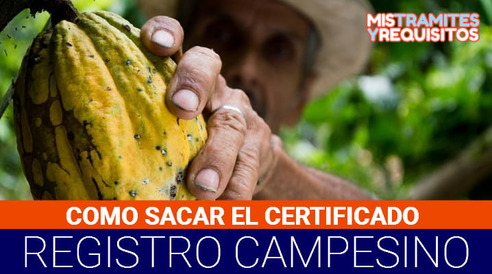 Certificado de Registro Campesino