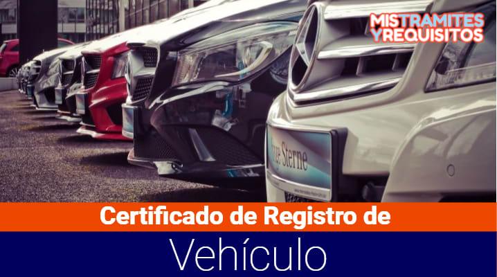 Certificado de Registro de Vehículo
