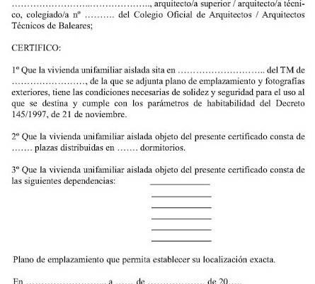 Certificado de Solidez modelo