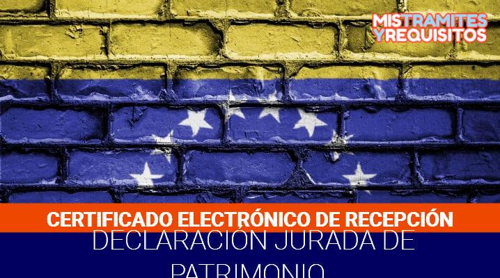 Como Obtener el Certificado Electrónico de Recepción de la Declaración Jurada de Patrimonio