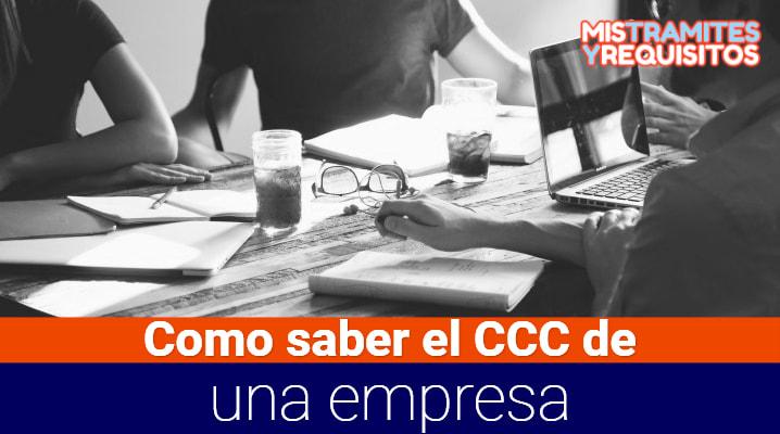 Como saber el CCC de una empresa