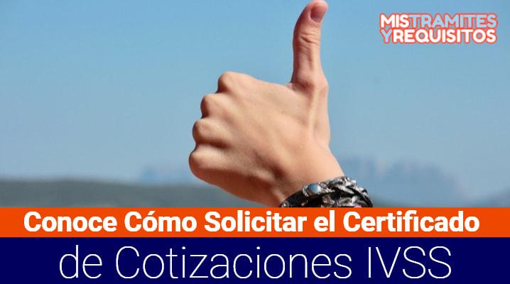 Certificado de Cotizaciones IVSS