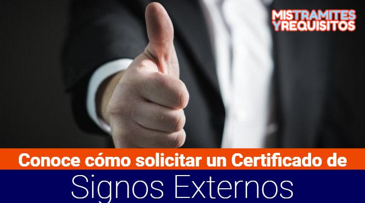 Certificado de Signos Externos