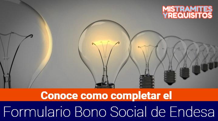 Conoce como completar el Formulario Bono Social de Endesa