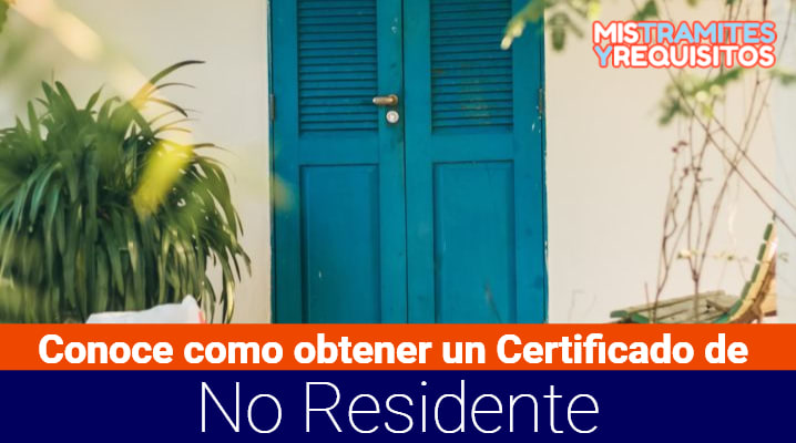 Certificado de No Residente