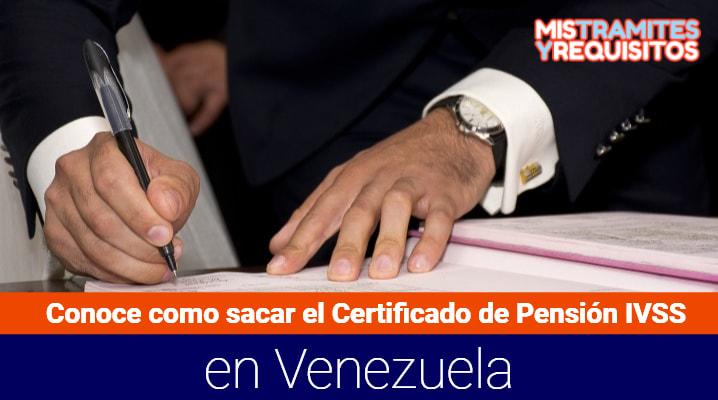 Certificado de Pensión IVSS