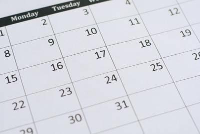 calendario de fechas limites