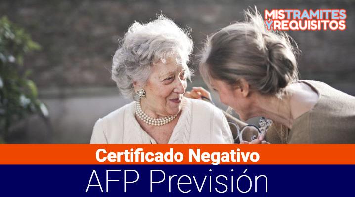 Conoce como sacar un Certificado Negativo AFP Previsión