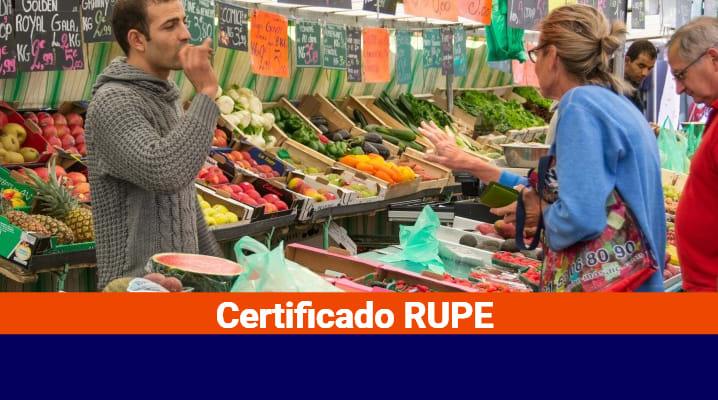 Certificado RUPE