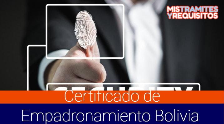 Conoce como sacar el Certificado de Empadronamiento Bolivia