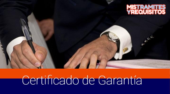 Conoce como obtener un Certificado de Garantía en Bolivia