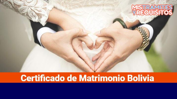 Certificado de Matrimonio Bolivia