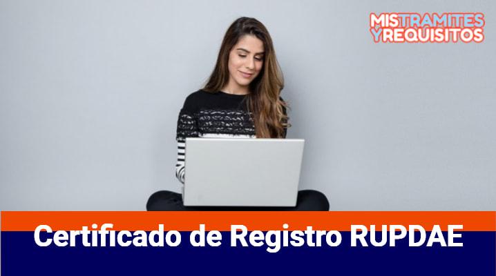 Certificado de Registro RUPDAE