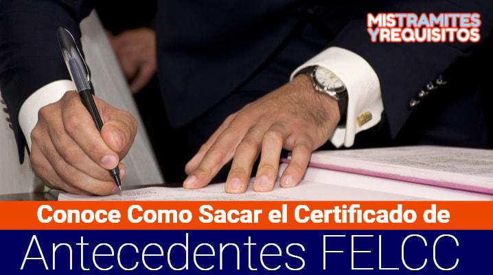 Certificado de Antecedentes FELCC