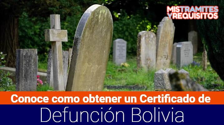 Certificado de Defunción Bolivia