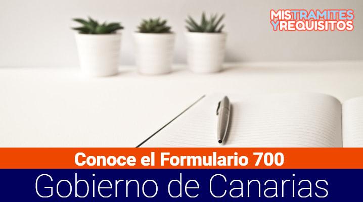 Formulario 700 Gobierno de Canarias