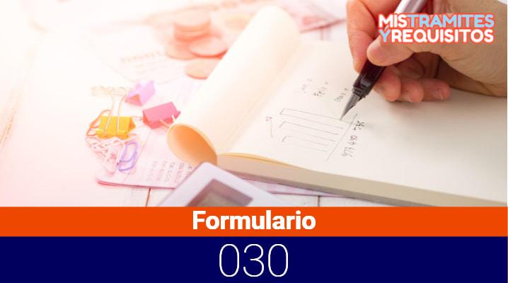 Formulario 030