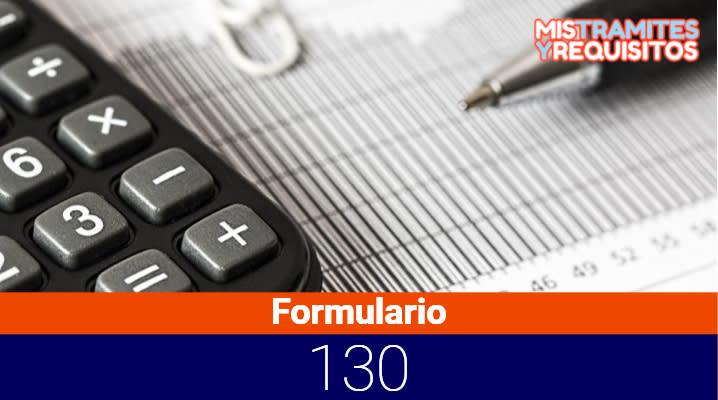 Formulario 130