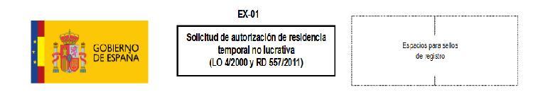 Formulario EX 01