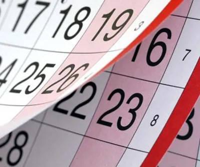calendario de presentación