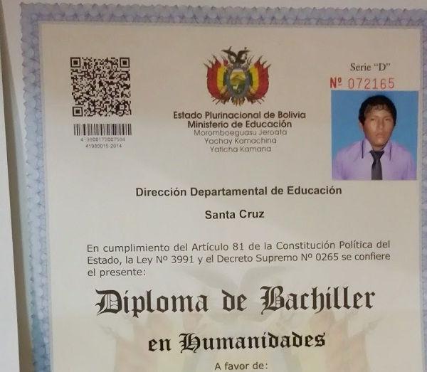 diploma de bachiller